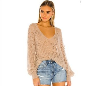 Free People Say Hello Open Knit Sweater Tunic S
